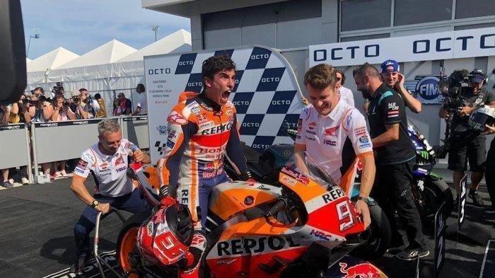 Berita Moto GP Aragon Hari Ini: Marc Marquez Beri Ancaman Serius, Tak Tergeser di 30 Menit Akhir FP1