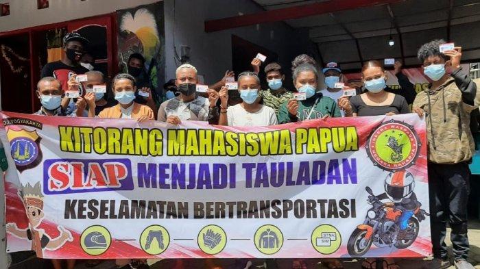 Bersinergi dengan Polda DIY, Mahasiswa Papua Siap Jadi Teladan Keselamatan Bertransportasi
