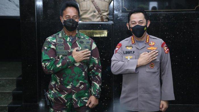 Bertemu Kasad Jenderal Andika Perkasa, Kapolri Jenderal Listyo Sigit Tegaskan TNI-Polri Solid
