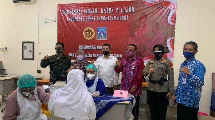 Binda DIY dan Pemkab Sleman Gelar Vaksinasi Covid-19 Bagi Pelajar, Sasar 1151 Siswa