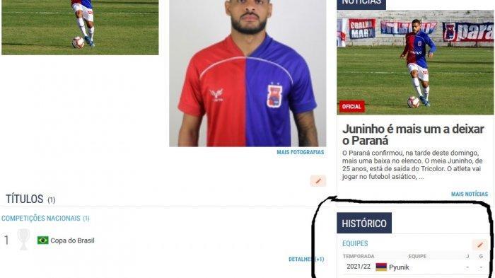 Biodata Juninho di Pyunik.