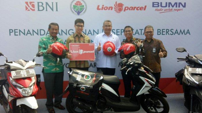 BNI Gandeng Lion Parcel untuk Meningkatkan Penghasilan BUMDES