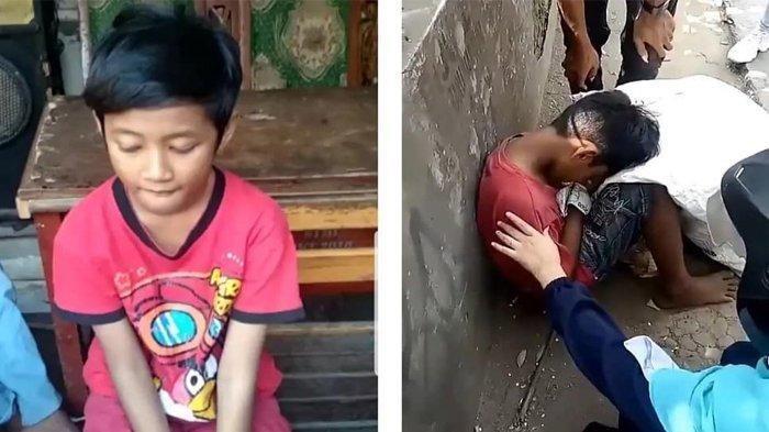 Viral Bocah Duduk Meringkuk Di Pinggir Jalan Dikira Meninggal Kelaparan, Cek Fakta Sebenarnya Ini