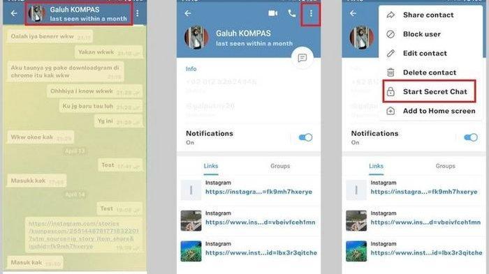 BOCORAN ! Cara Membuat Pesan Aplikasi Telegram Bisa Terhapus Otomatis