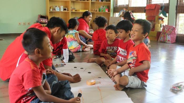 Early Childhood Care and Development Resource Center Kenalkan Body Maping pada Anak Didik