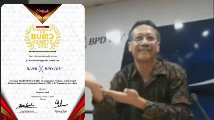 BPD DIY Sabet Penghargaan Atas Optimalisasi Layanan Sistem Informasi Pembangunan Daerah
