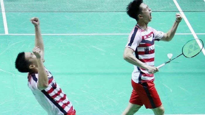 Taklukkan Tuan Rumah, Marcus Gideon/Kevin Sanjaya Juarai Fuzhou China Open 2018