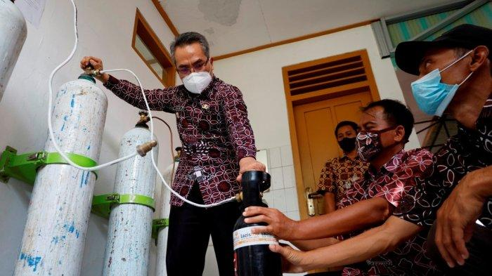 Bupati Bantul Luncurkan Oksigen Gratis untuk Pasien Isoman atau Dirawat di Shelter