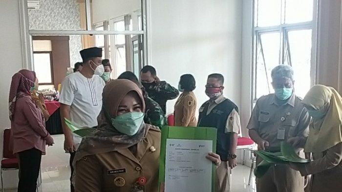 Berjalan Lancar, Bupati Klaten Sri Mulyani Jalani Vaksin COVID-19 Tahap Kedua