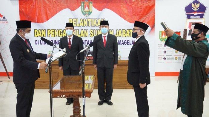 Bupati Magelang Lantik 7 Pejabat Administrator Baru
