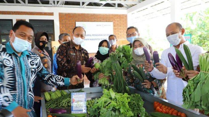 Bupati Sleman Resmikan Bangsal Titik Kumpul Sayur