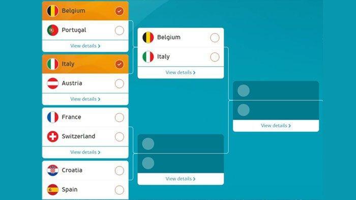 Belgia dan Italia bertemu di babak perempat final euro 2020 pada Sabtu 3 Juli 2020 pukul 02.00 WIB