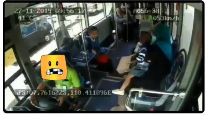 Viral Video Rekaman CCTV Detik-detik Bus Transjogja Tabrak Pemotor Hingga Tewas, Sopir Tak Berhenti