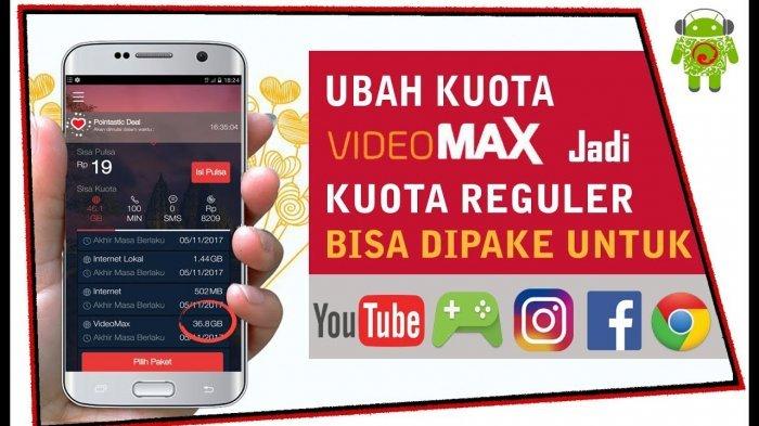 Cara Menggunakan Kuota Videomax Untuk Nonton Youtube Dan Mengubahnya Menjadi Kuota Biasa Tribun Jogja