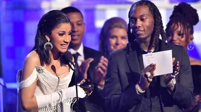 Penyanyi rap Cardi B dan suaminya Offset dalam Grammy Awards 2019