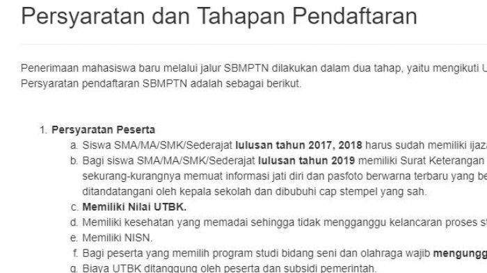 Catat! Jadwal Pendaftaran SBMPTN 2019 Dibuka Senin 10 Juni 2019