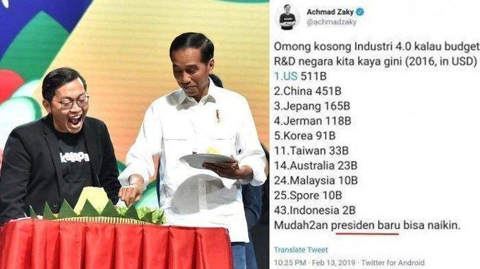 Heboh Twit CEO Bukalapak, Achmad Zaky Bertemu Jokowi Hari Ini