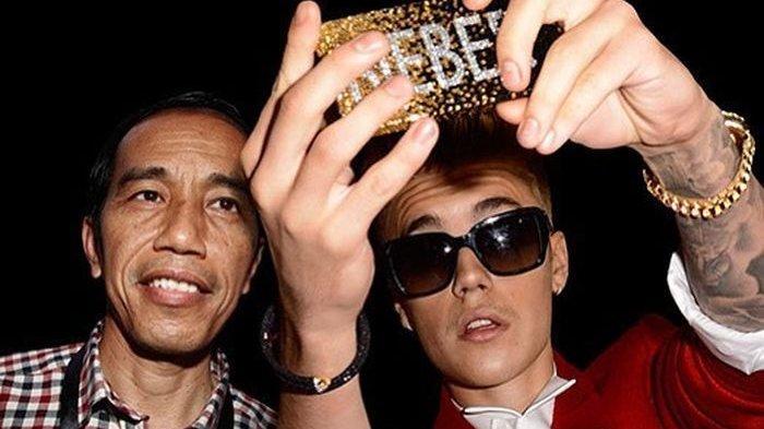 Cerita di Balik Foto Presiden Jokowi Selfie Bareng Justin Bieber dan Leonardo DiCaprio Jadi Ojol