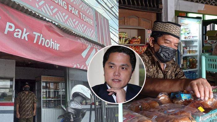 CERITA Pak Thohir Pemilik Toko Depan Bandara YIA Didatangi Menteri BUMN Erick Thohir