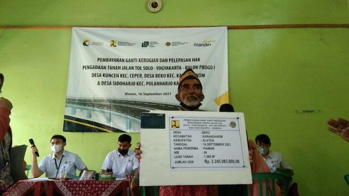 Cerita Petani di Klaten Terima UGR Tol Yogya-Solo Rp4,3 Miliar Tolak Beli Mobil Pilih Bangun 2 Rumah