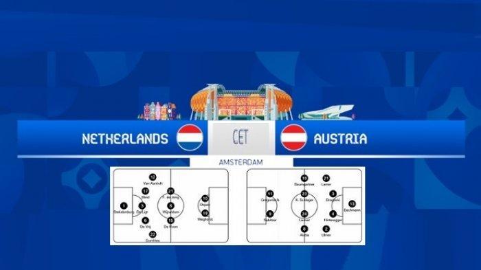 Channel TV Siaran EURO Hari Ini BELANDA vs AUSTRIA - Line Ups & Prediksi Skor