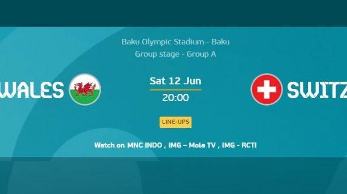 Channel TV Siaran WALES vs SWISS Piala Eropa Pukul 20.00 WIB, Line Up: Bale, Ramsey, Xhaka, Shaqiri