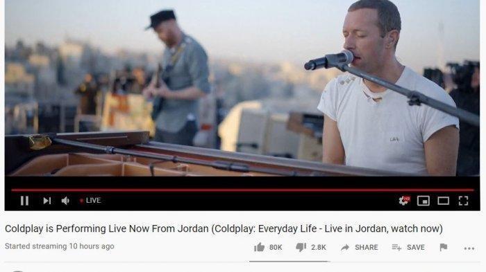 Coldplay Rilis Album Baru Live dari Yordania, Berikut Lirik dan Terjemahan Lagu