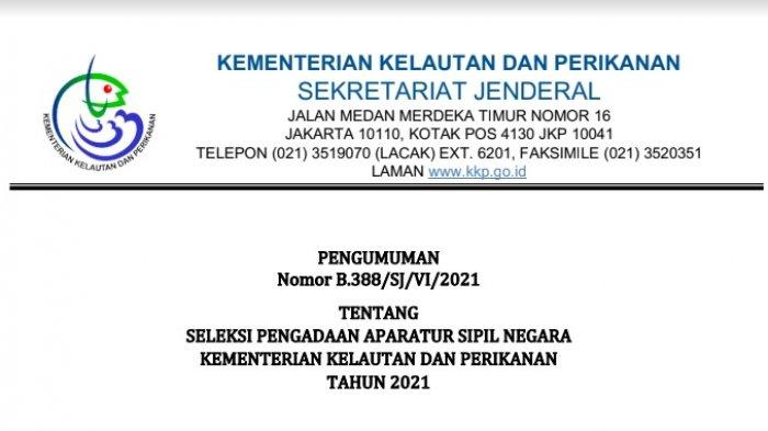 Lulusan SMK Merapat! Kementerian kelautan dan Perikanan Buka Formasi CASN 2021