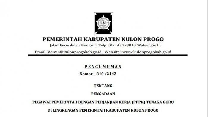 Pemkab Kulon Progo Buka 383 Formasi PPPK Tenaga Guru, Berikut Syaratnya