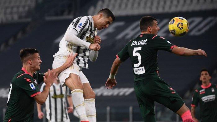 JUVENTUS: Ketika Ronaldo Terbang Tinggi Lagi dan Cetak Gol Lalu Teriak. . . 'Siuuuu'