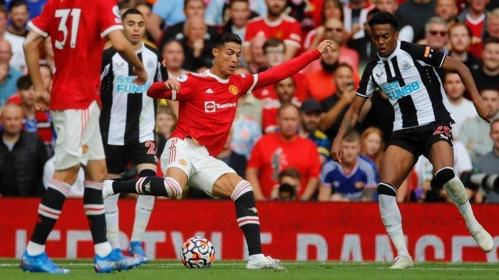 Cristiano Ronaldo saat pertandingan Manchester United vs Newcastle di pertandingan Premier League Sabtu (11/9/2021)