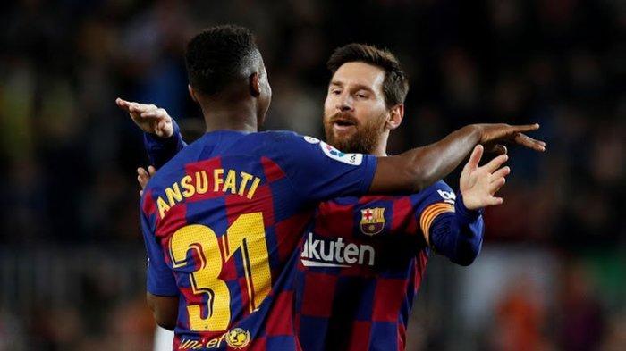Bintang muda Barcelona, Ansu Fati, berhasil menciptakan rekor dalam gelaran Laliga, kasta tertinggi Liga Spanyol 2019-2020.