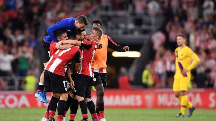 Bertandang ke markas Bilbao di Stadion San Mames, Jumat atau Sabtu (17/8/2019) dini hari WIB, Barcelona kalah tipis 0-1.