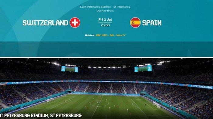 Daftar Pemain & Prediksi Skor SWISS vs SPANYOL - Siaran Langsung Perempat Final EURO di TV Malam Ini