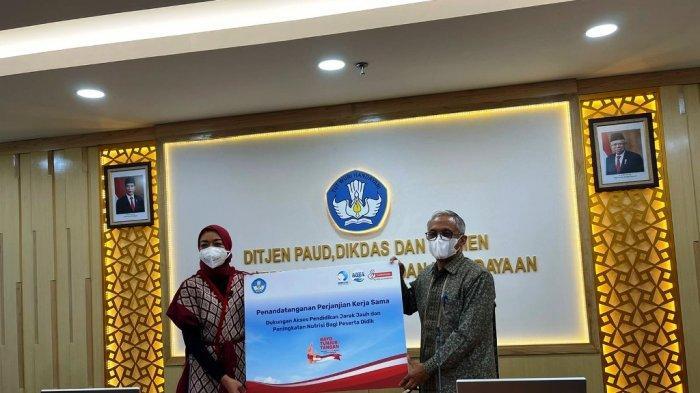 Danone Bekerja Sama dengan Kemendikbudristek, Bantu Akses Pendidikan Jarak Jauh Siswa Indonesia