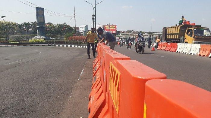 Dapat Bantuan 302 Water Barrier, Dishub Kota Yogya Tata Ulang Jalan Abu Bakar Ali