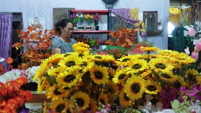 Kisah Darti Sukses Geluti Bisnis Bunga Plastik Tribun Jogja
