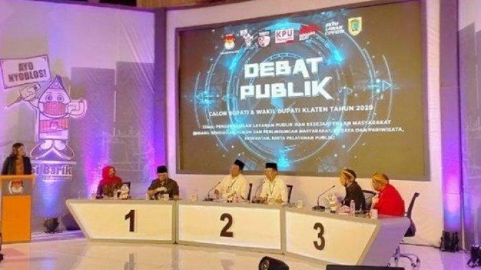 Debat Perdana Pilkada Klaten 2020, Tiga Paslon Saling Paparkan Visi-Misi hingga Adu Gagasan