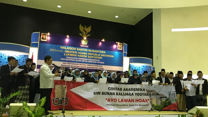 UIN Sunan Kalijaga Yogyakarta Deklarasikan Anti-Informasi Hoax