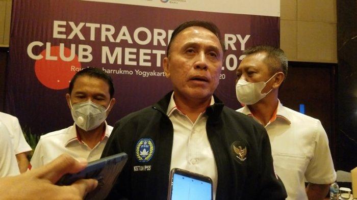 Ketua Umum PSSI, Mochamad Iriawan ditemui disela extraordinary club meeting di Yogyakarta beberapa waktu lalu.
