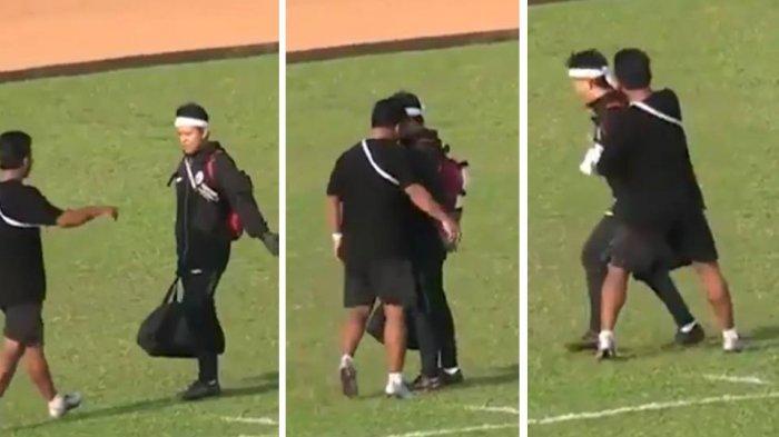 Video Detik-detik Tandukan Brutal Oknum Official Cilegon United ke Wajah Fisoterapis PSS Sleman