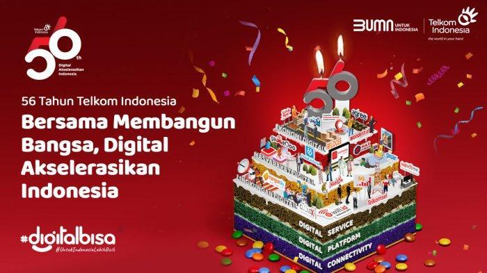 Di Usia 56 Tahun Telkom Berkomitmen Mewujudkan Kedaulatan Digital Indonesia