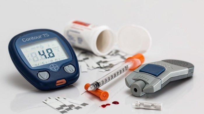 Ilustrasi diabetes, pengukuran gula darah