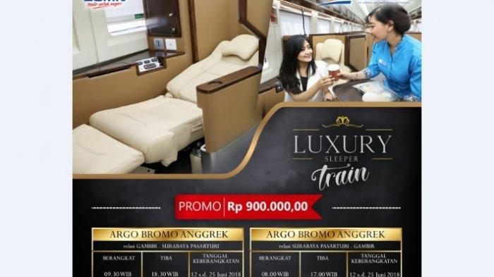 Kereta Kelas Luxury Jenis Sleeper Ini Akan Layani Mudik Mulai Besok, Nih Catat Harga Tiket Promonya