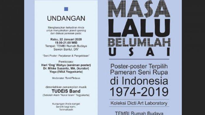 Dicti Art Laboratory Gelar Pameran Poster Pameran Seni Rupa 1974-2019