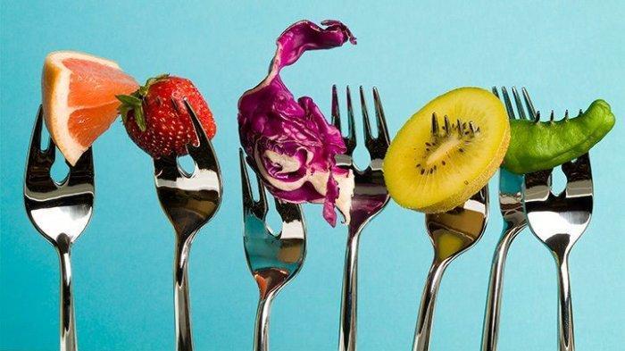Ilustrasi buah-buahan untuk diet