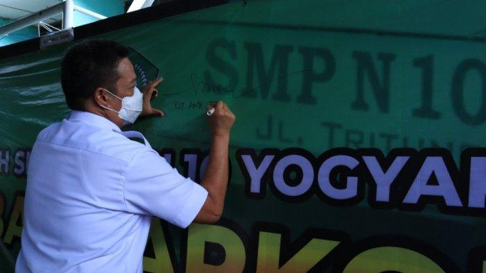 Dikunjungi Kepala BNNP DIY, SMP Negeri 10 Kota Yogyakarta Jadi Percontohan Sekolah Bersih Narkoba