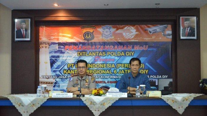 Ditlantas Polda DIY Gandeng PT Pos Indonesia untuk e-Tilang
