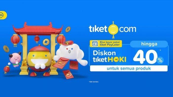 Tiket.com Gelar Program Promo Diskon tiketHoki hingga 40 Persen