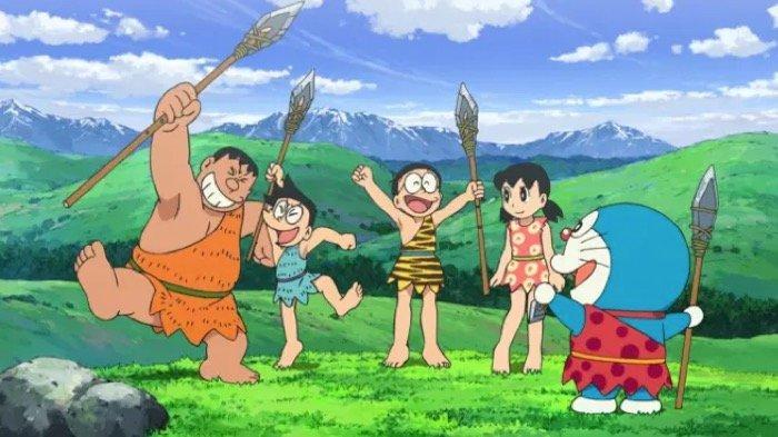 SINOPSIS Doraemon: Nobita and The Birth of Japan di Trans TV Malam Ini 19.30 WIB, Jelajah Masa Lalu
